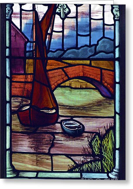 Snape Greeting Cards - Snape Bridge. Greeting Card by Stan Pritchard