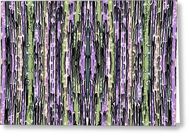 Sacred Tapestries - Textiles Greeting Cards - Snapped Lines Greeting Card by Suzi Freeman