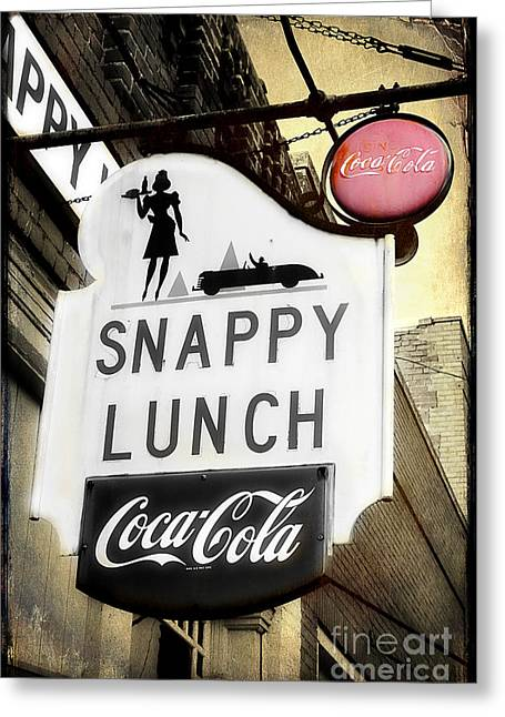 Mt. Airy Greeting Cards - Snappy Lunch Greeting Card by Michael Eingle