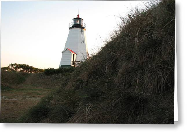 Gurnet Light Greeting Cards - Sneaking up on a Lighthouse Greeting Card by Brian Mazzoli