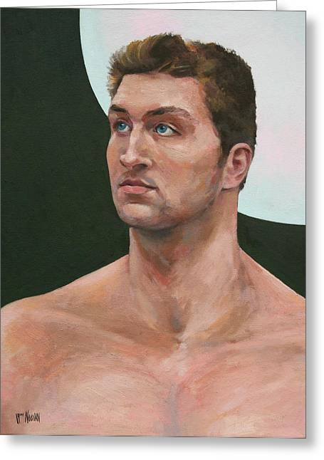 Tebow Paintings Greeting Cards - Snips and Snails Greeting Card by William Noonan