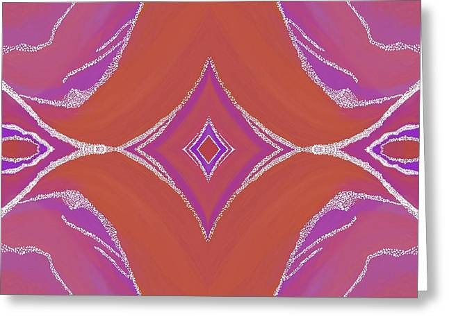 Abstract Digital Tapestries - Textiles Greeting Cards - Sno Capped Dreamings Greeting Card by Suzi Freeman
