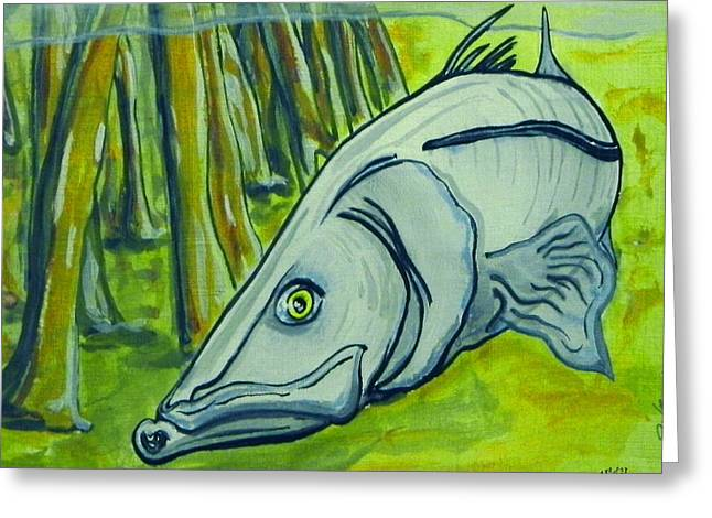 Snook Fish Greeting Card by W Gilroy