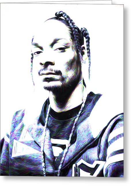 La Clippers Greeting Cards - Snoop Doggy Dog Calvin Broadus Music Greeting Card by David Haskett