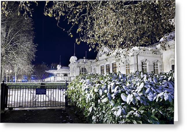 Vichy Greeting Cards - Snow at Vichy Opera Greeting Card by Alexander Davydov