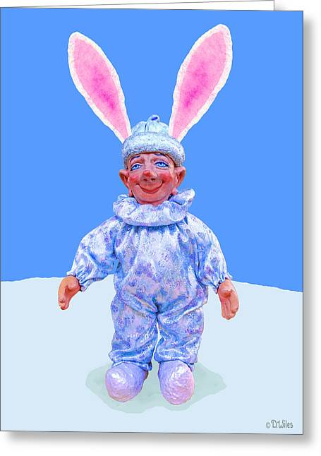 Sport Sculptures Greeting Cards - Snow Bunny Fud Greeting Card by David Wiles