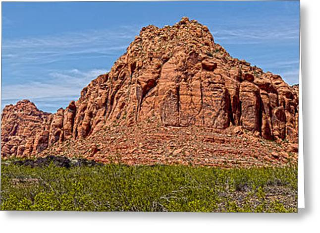 Southern Utah Greeting Cards - Snow Canyon Panorama Greeting Card by David Simpson