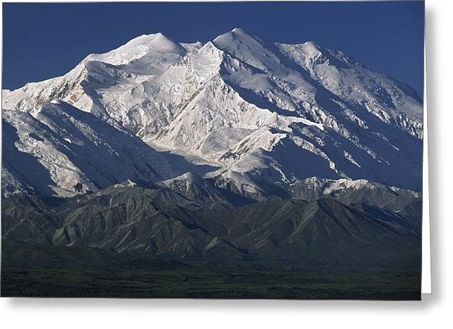 Snow Capped Greeting Cards - Snow-capped Mount Mckinley, Alaska, Usa Greeting Card by David Ponton