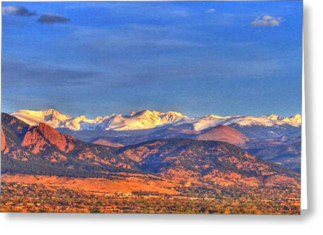 Snow Capped Greeting Cards - Snow-capped Panorama of The Rockies Greeting Card by Scott Mahon