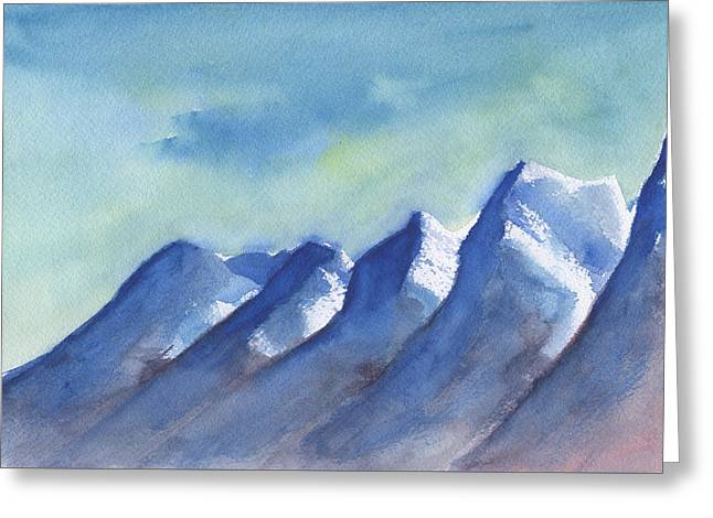 Snow Capped Greeting Cards - Snow Caps Greeting Card by Frank Bright