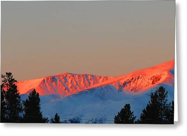 Snow Capped Greeting Cards - Snow Cone Sunset Greeting Card by Connor Ehlers