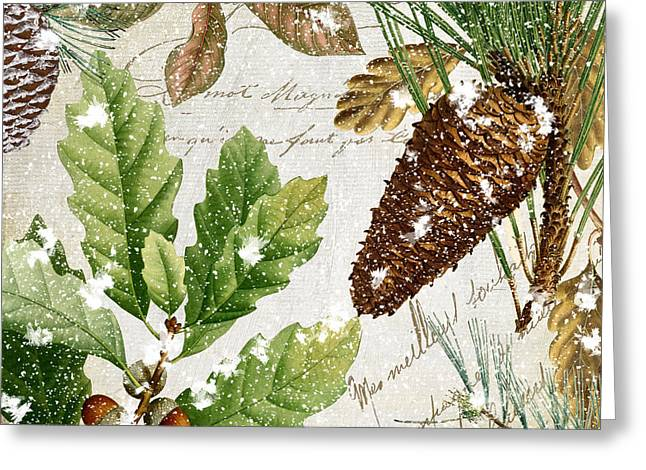 Pinecones Greeting Cards - Snow Cones II Greeting Card by Mindy Sommers