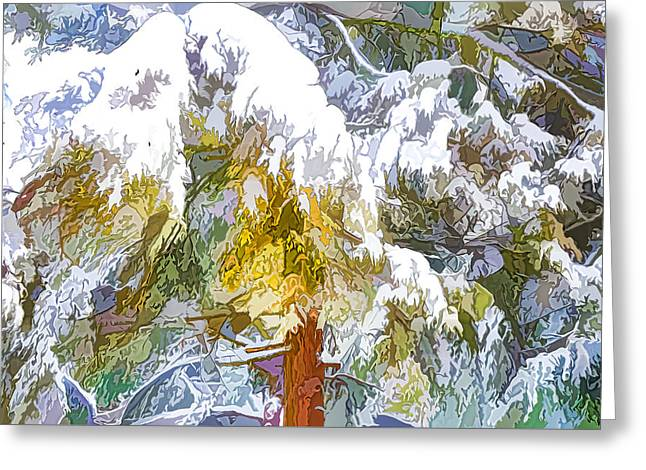 Snow-covered Tree Branch 1 Greeting Card by Lanjee Chee
