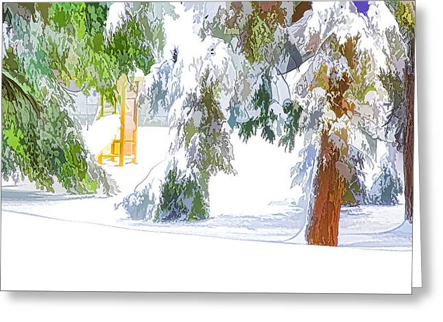 Snow-covered Tree Branch 2 Greeting Card by Lanjee Chee