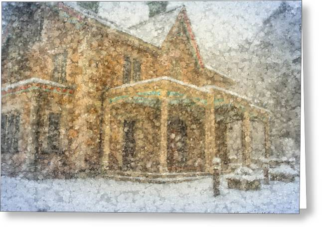 Snow Day At Queset House Greeting Card by Bill McEntee