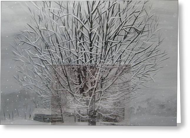 Stella Sherman Greeting Cards - Snow Day Greeting Card by Stella Sherman