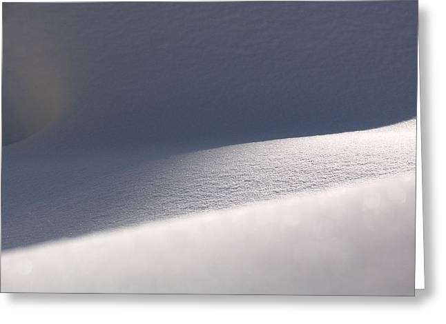 Abstract Forms Photographs Greeting Cards - Snow Dreams Greeting Card by Juergen Roth