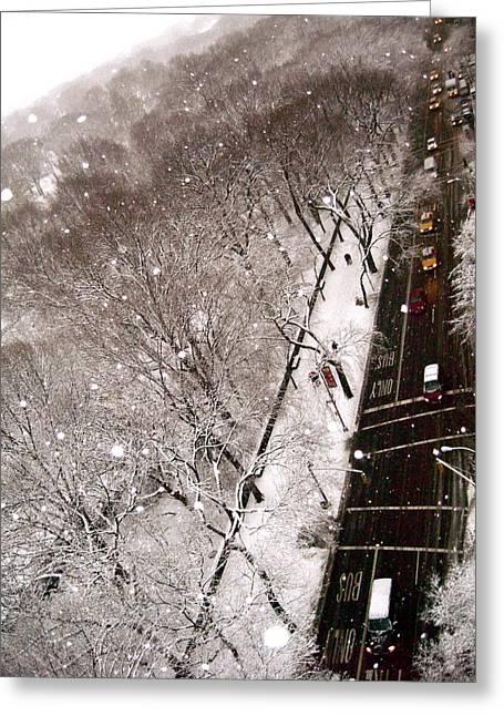 Ariane Moshayedi Greeting Cards - Snow on 5th Greeting Card by Ariane Moshayedi