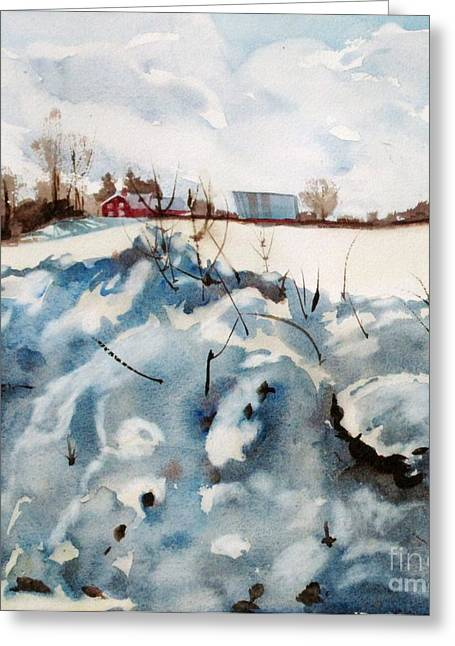 Southwick Greeting Cards - Snow on Southwick Greeting Card by Elizabeth Carr