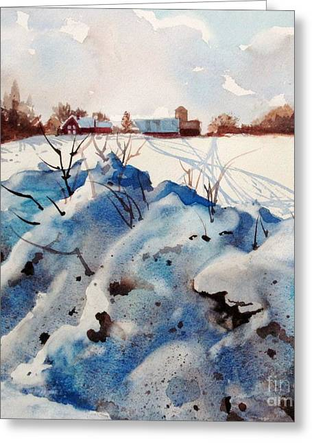 Elizabeth Carr Greeting Cards - Snow on Southwick I Greeting Card by Elizabeth Carr
