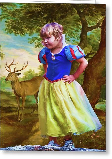 Snow Whites Daughter Greeting Card by John Haldane