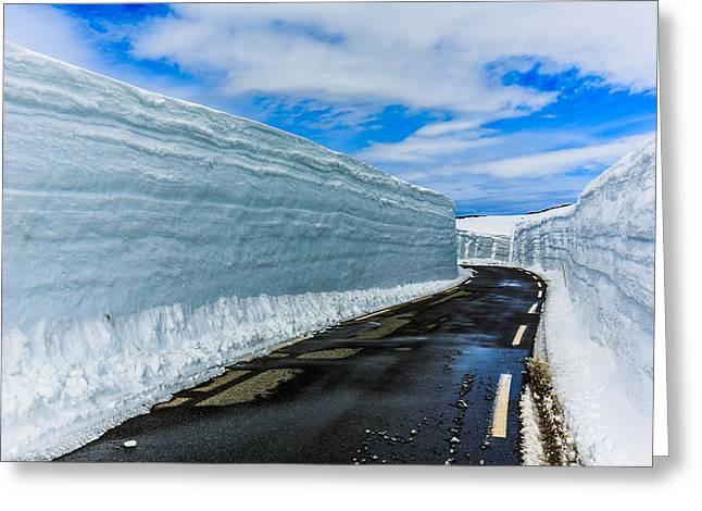 Snowbanks 2 Greeting Card by Arve Sirevaag
