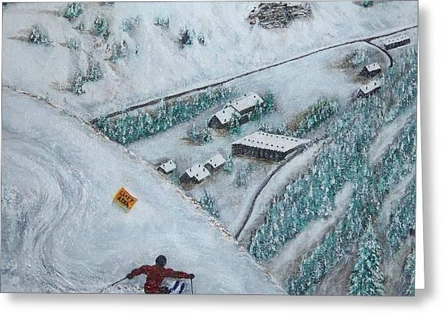 snowbird steeps Greeting Card by Michael Cuozzo