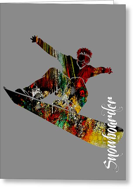 Sport Greeting Cards - Snowboarder Collection Greeting Card by Marvin Blaine