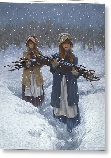 Snowbound Greeting Cards - Snowbound at Red Buttes Greeting Card by Stephen Bartholomew