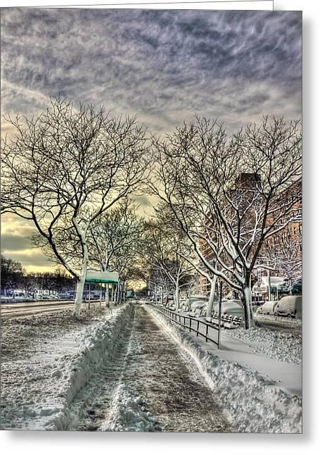 Snow Path Greeting Cards - Snowbound Greeting Card by Evelina Kremsdorf