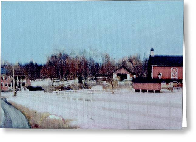 Impressionist Greeting Cards - Snowcast Greeting Card by David Zimmerman