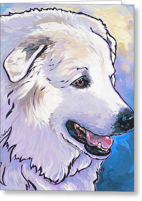 Snowdoggie Greeting Card by Nadi Spencer