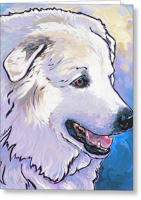 Greeting Cards - Snowdoggie Greeting Card by Nadi Spencer