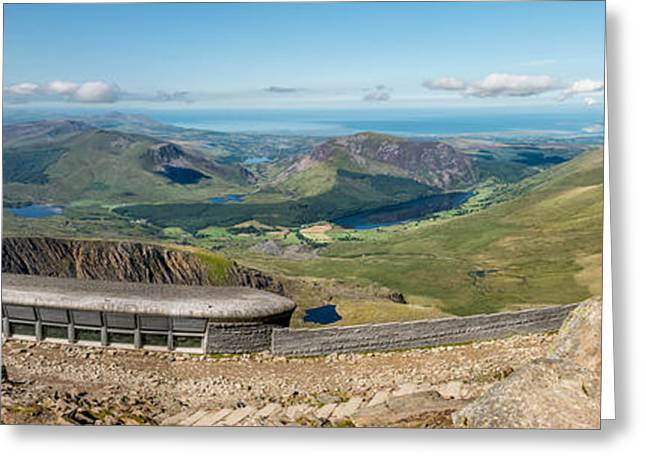 Snowdon Cafe Greeting Card by Adrian Evans