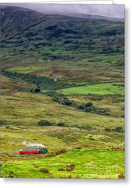 Narrow Gauge Steam Engine Greeting Cards - Snowdon Mountain Railway Greeting Card by Adrian Evans