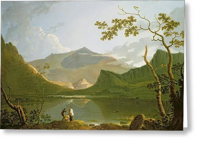 Lights Reflecting On Water Greeting Cards - Snowdon Greeting Card by Richard Wilson