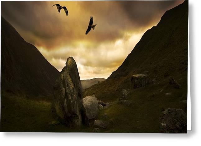 Snowdonia Greeting Card by Angel  Tarantella