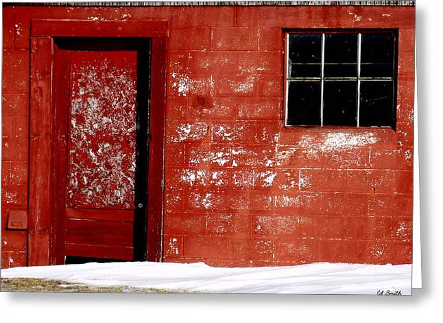 Barn In Snow Greeting Cards - Snowed In Greeting Card by Ed Smith