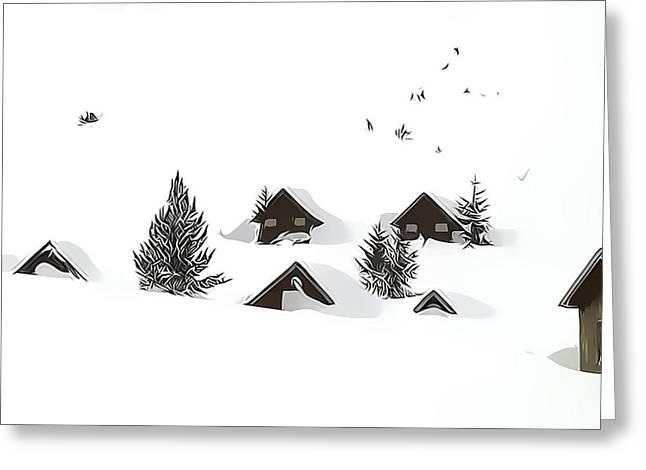 Snowed In Greeting Card by Gareth Davies
