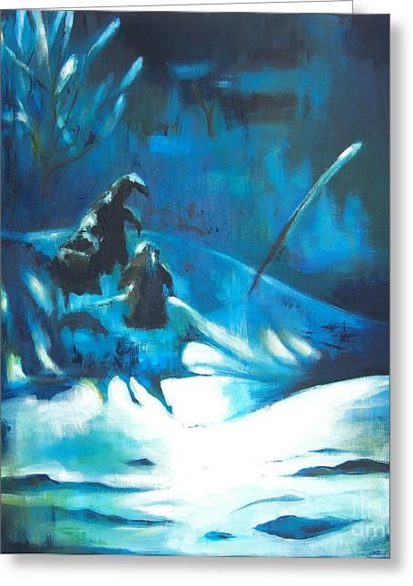 Lin Petershagen Greeting Cards - Snowee Greeting Card by Lin Petershagen