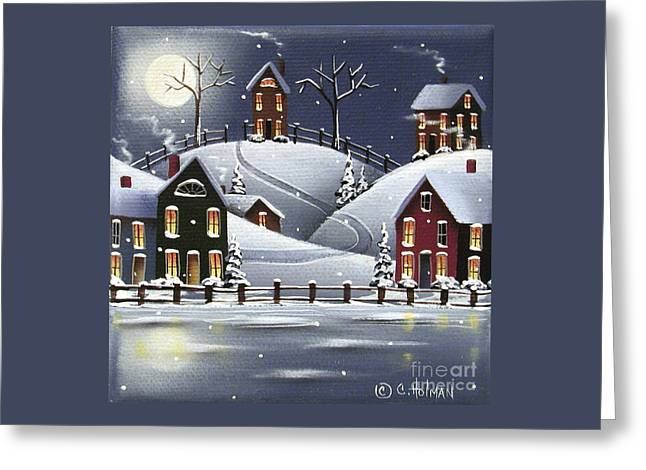 Catherine Greeting Cards - Snowflake Cove Greeting Card by Catherine Holman