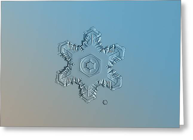 Snowflake Photo - Relief Greeting Card by Alexey Kljatov