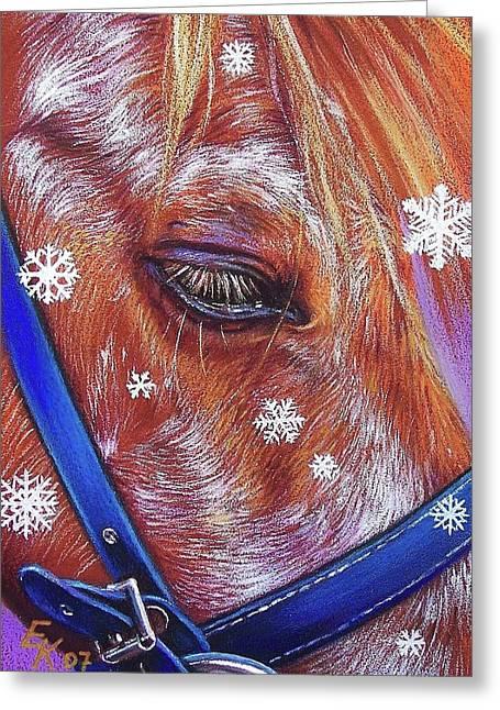 Snowflakes Greeting Card by Elena Kolotusha