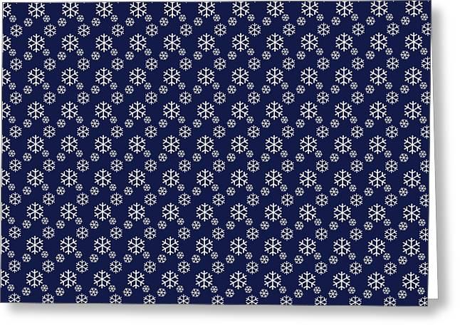 Cushion Greeting Cards - Snowing on Christmas Eve Greeting Card by Lena Kouneva