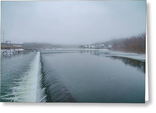 Snowy Day At Boathouse Row Greeting Card by Bill Cannon
