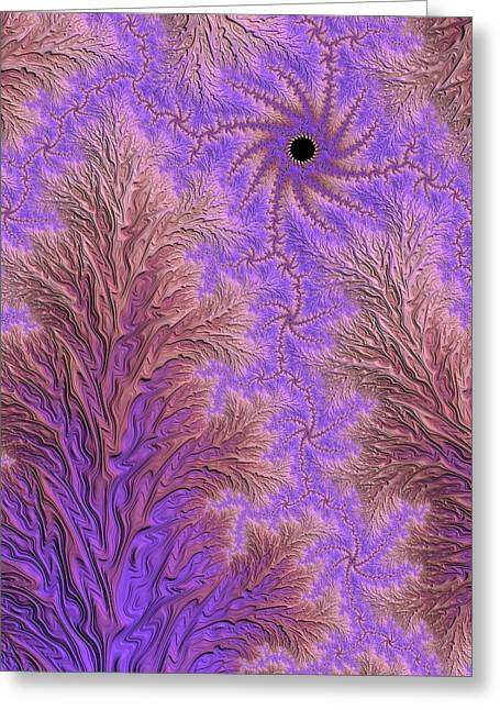 Muted Mauve Greeting Cards - Snowy Morn at Daybreak Greeting Card by Susan Maxwell Schmidt