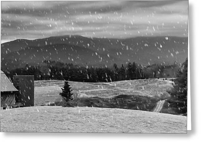 Winter Storm Greeting Cards - Snowy Mountain Farm Greeting Card by Capturing The Carolinas