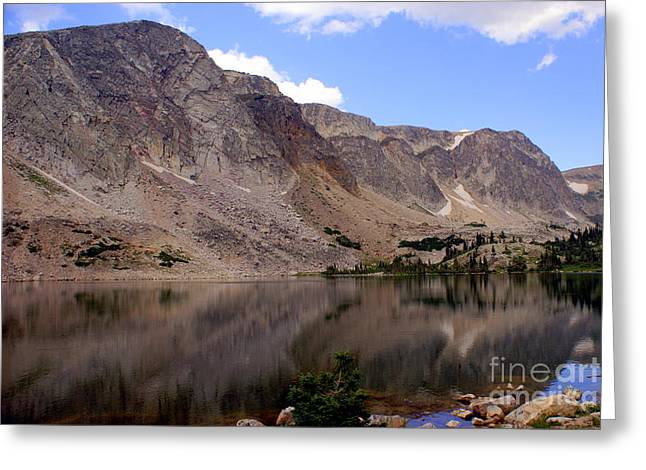 Snowy Mountain Loop 4 Greeting Card by Marty Koch
