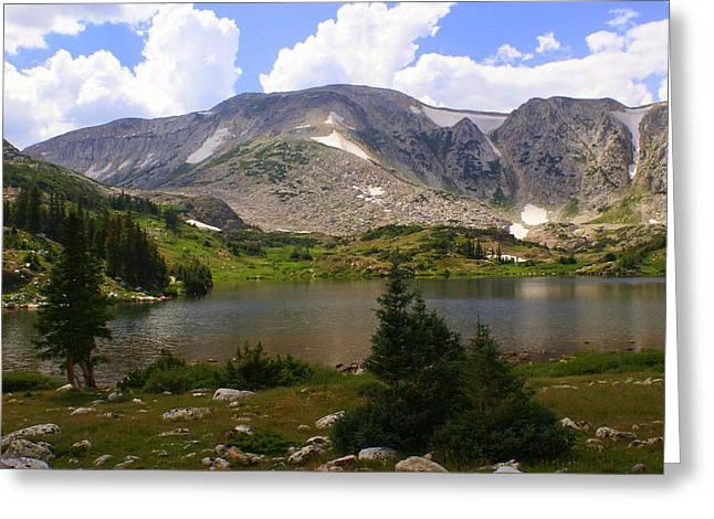 Snowy Mountain Loop Greeting Cards - Snowy Mountain Loop 9 Greeting Card by Marty Koch