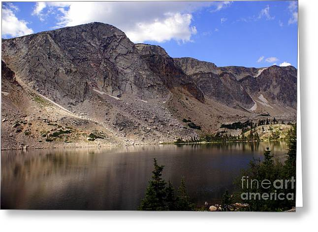 Snowy Mountian Loop 8 Greeting Card by Marty Koch
